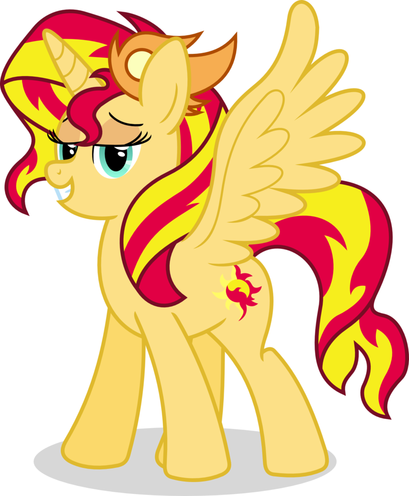 Alicorn drawing sunset. Mlp gd game shimmer