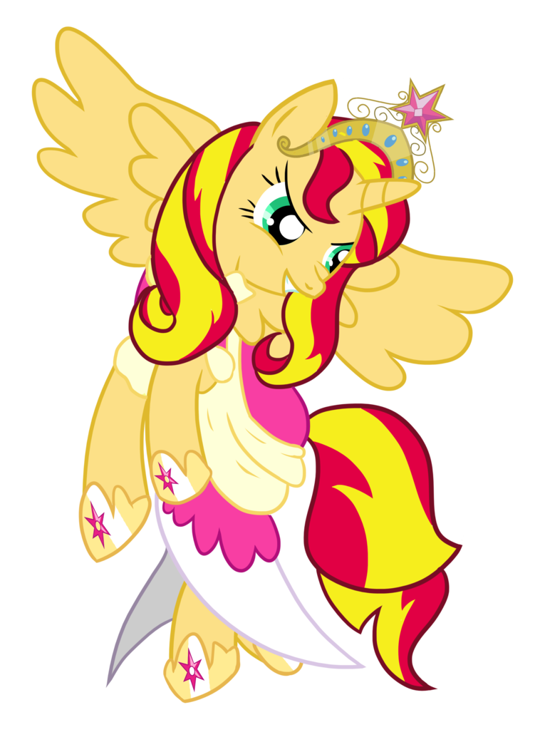 Alicorn drawing sunset. Shimmer by ilona the