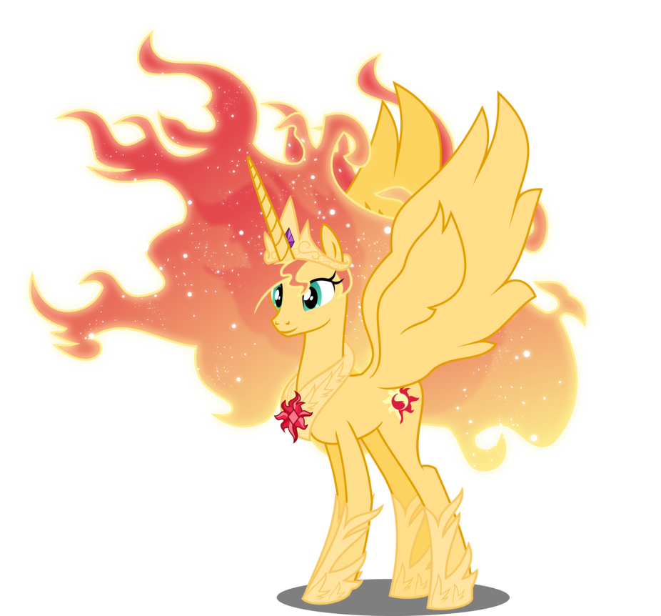 Alicorn drawing sunset. Shimmer years by orin