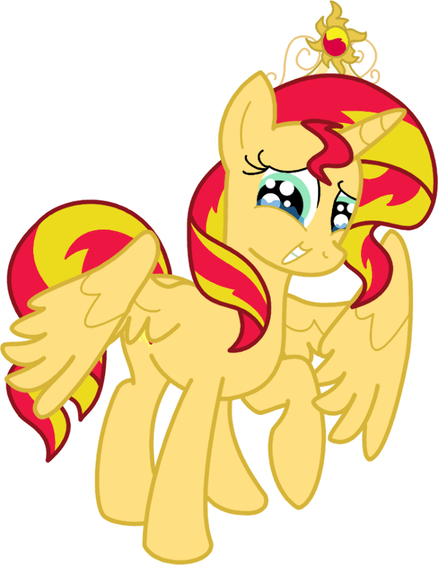 Alicorn drawing sunset. Shimmer by cheesedork on