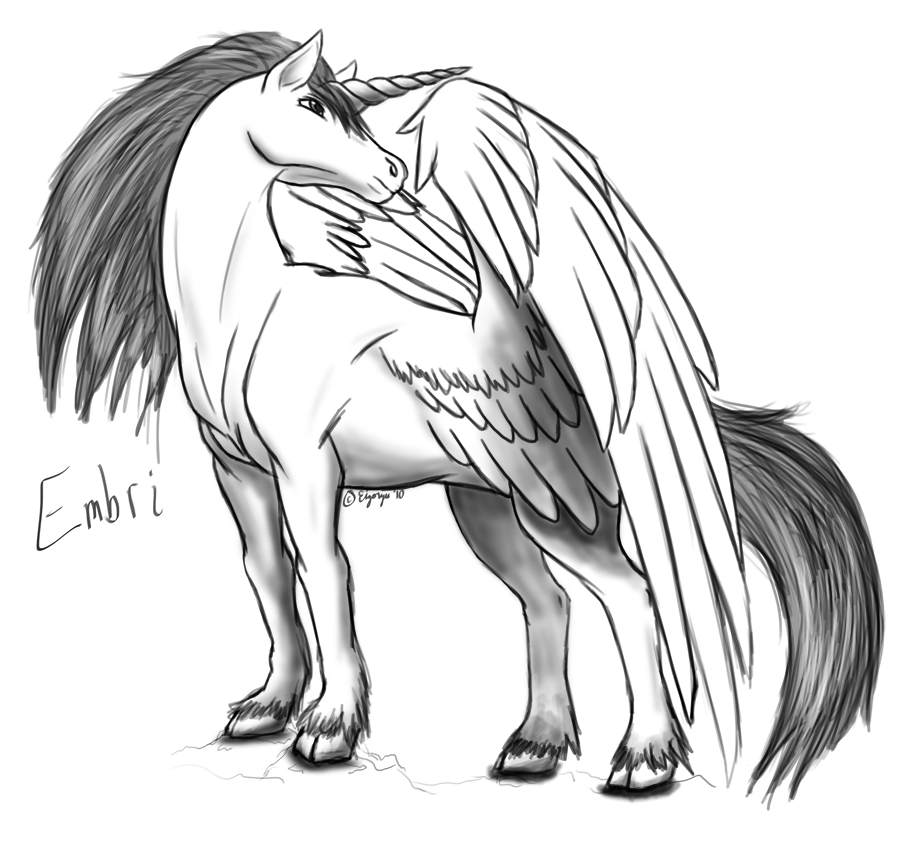 Alicorn drawing white. Gaia sketch commish by