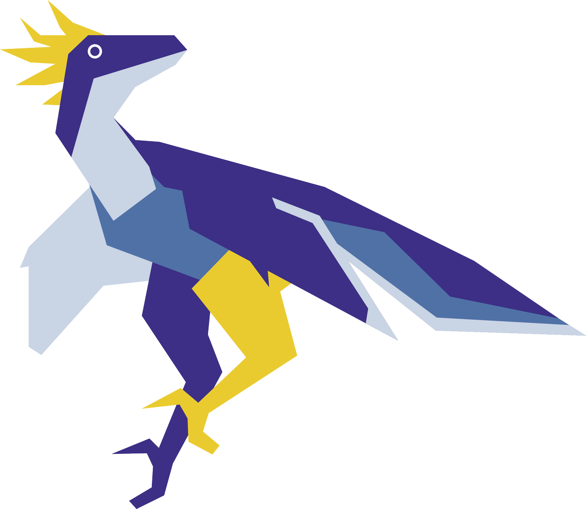 Velociraptor vector art. Fluffy alien cyclops bird