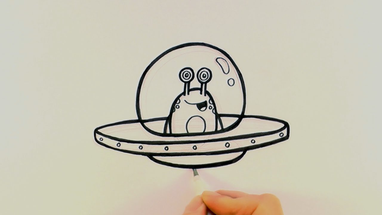 Alien clipart drawing mars. How to draw a