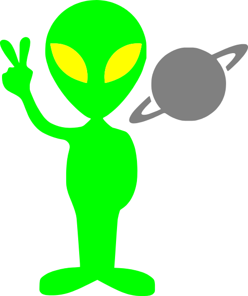 Alien clipart png. Making peace sign clip