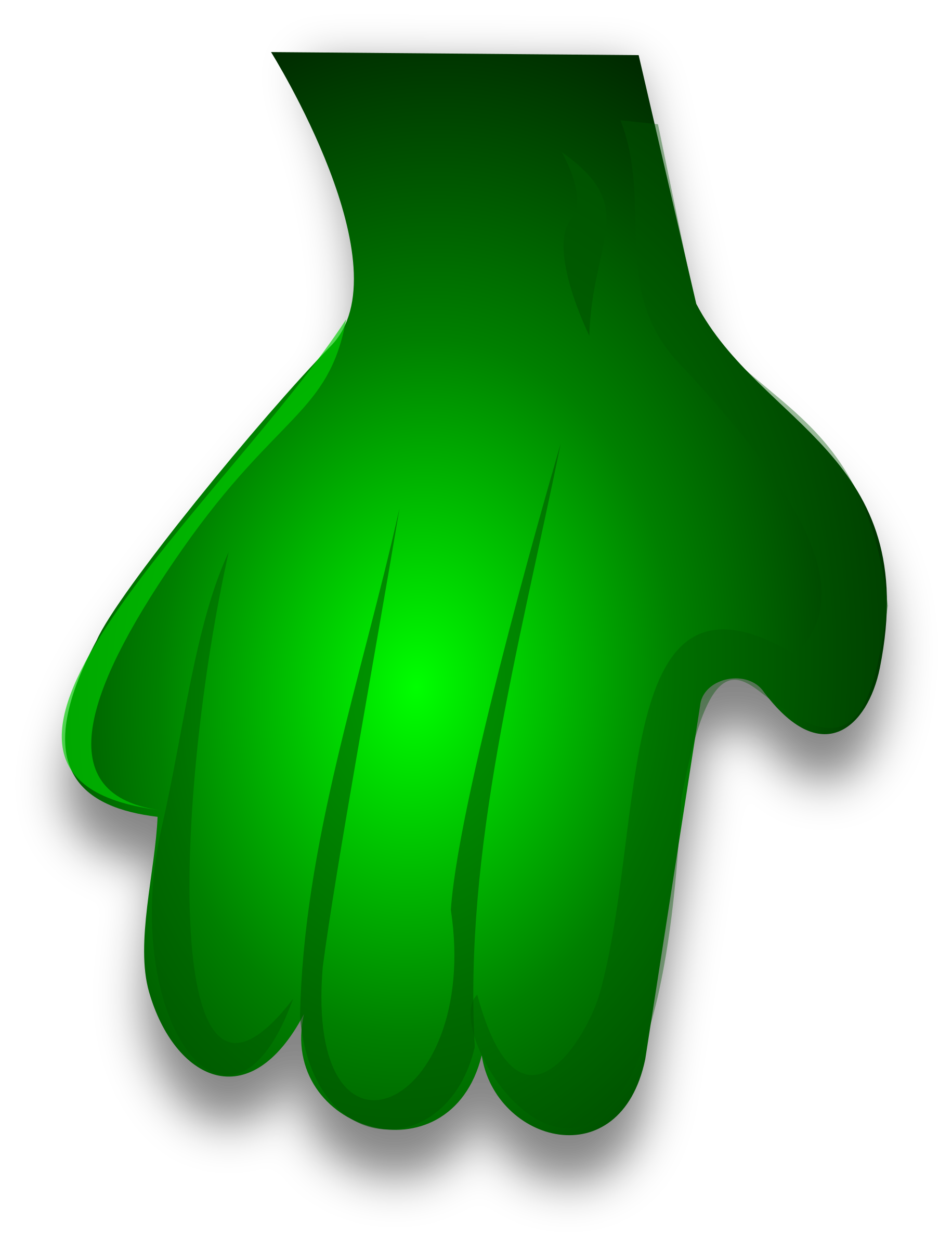 Monster hands png. Green hand icons free