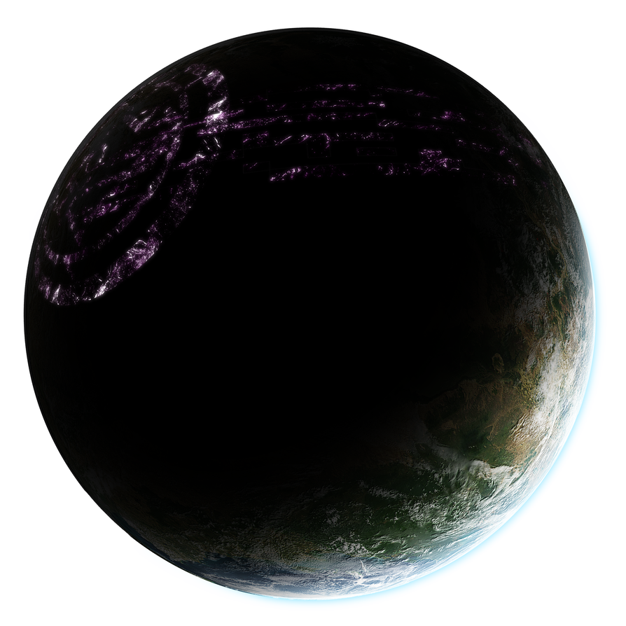 Alien planet png. Stock by arisechicken on