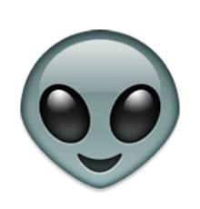 Emojis tumblr png. Transparent alien emoji emojitransparent