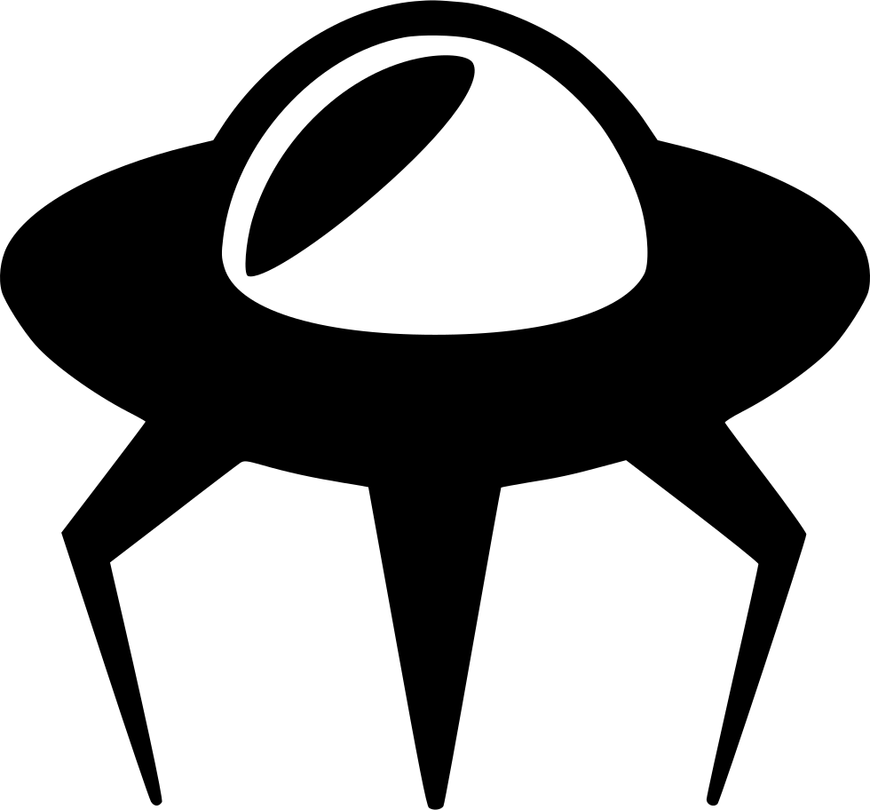 Spaceship svg vector. Alien png icon free