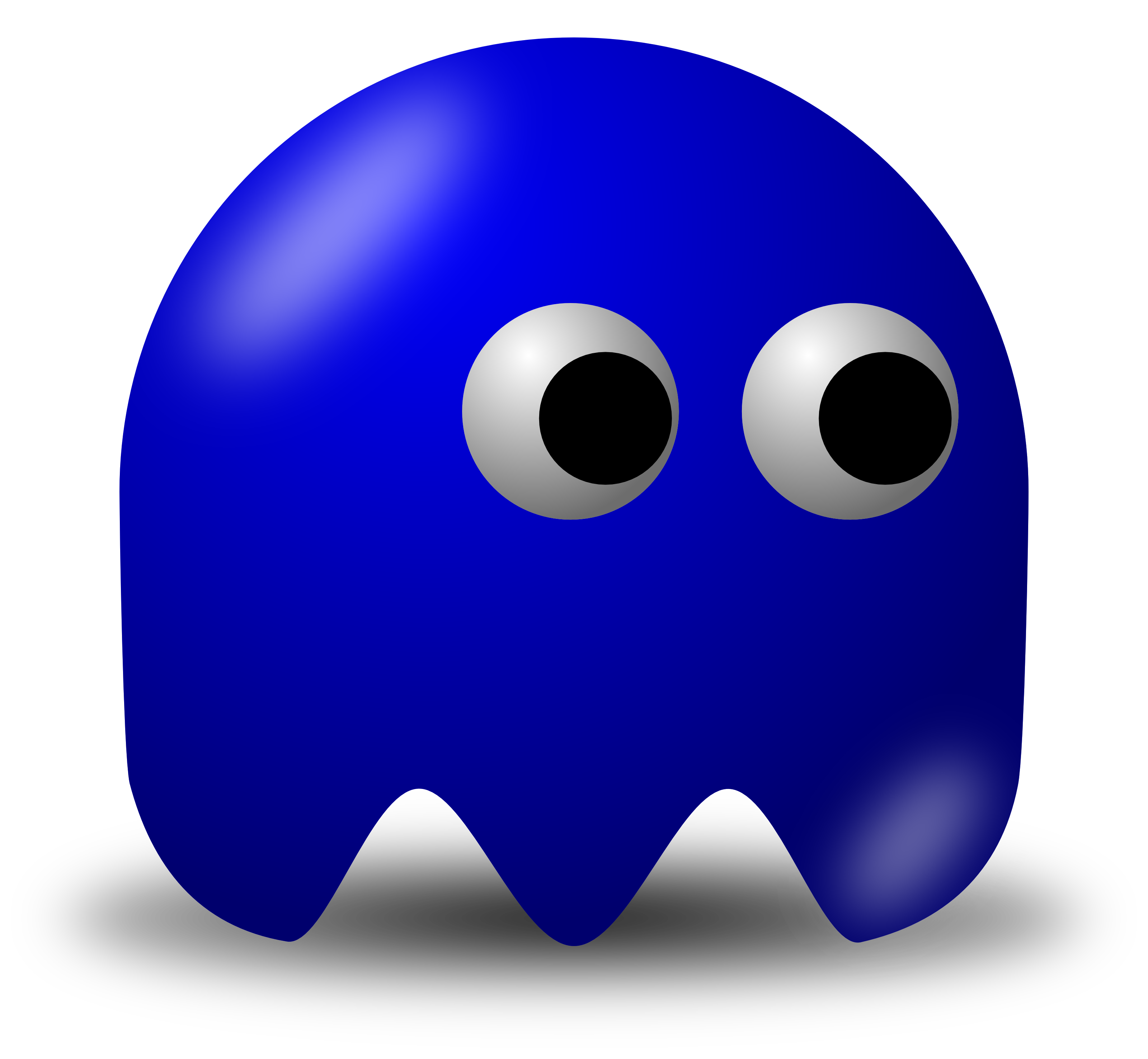 Pac man games video. Blue clip jpg black and white download