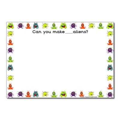 Aliens clipart border. Alien themed resources primary