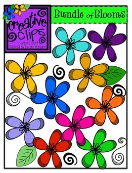 All about clipart flower. Free spring bright colorful