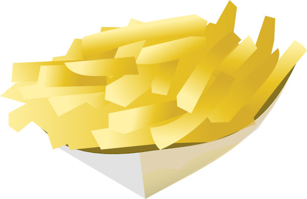 Fries vector clip. French fires art at