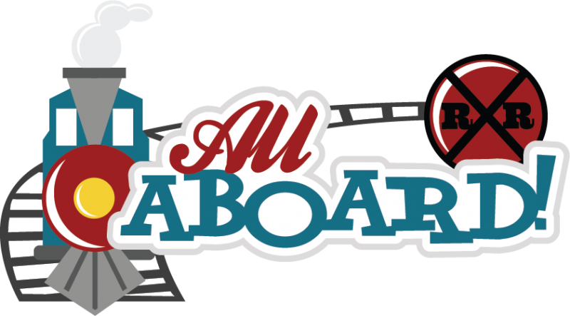 All about clipart svg. Aboard scrapbook title train