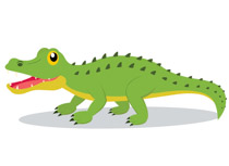 Free clip art pictures. Alligator clipart image black and white