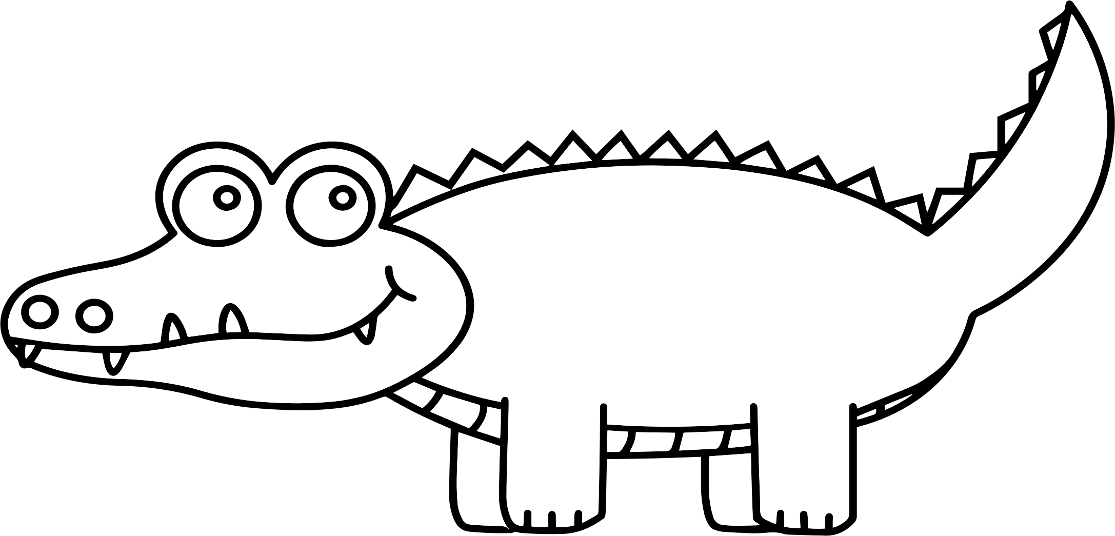 Alligator clipart. Black and white images