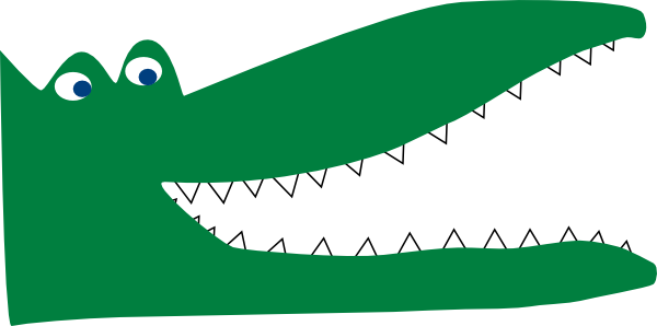 crocs drawing outline