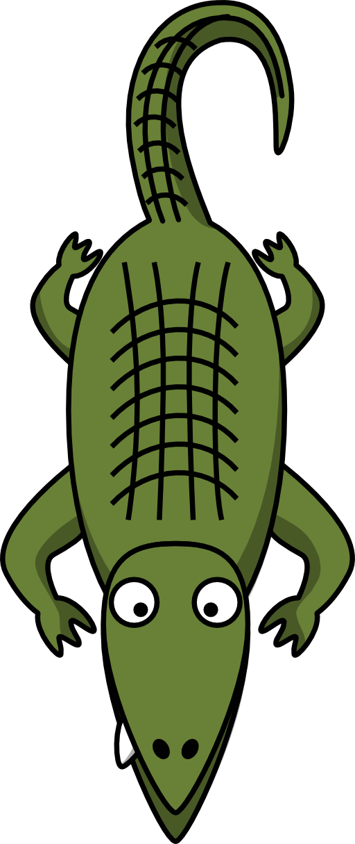 Crocodile clipart kid. Free cartoon pictures of
