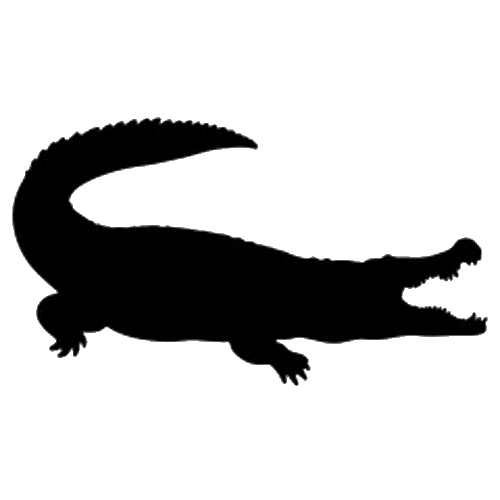 Alligator silhouette png. Calotes maria gray species
