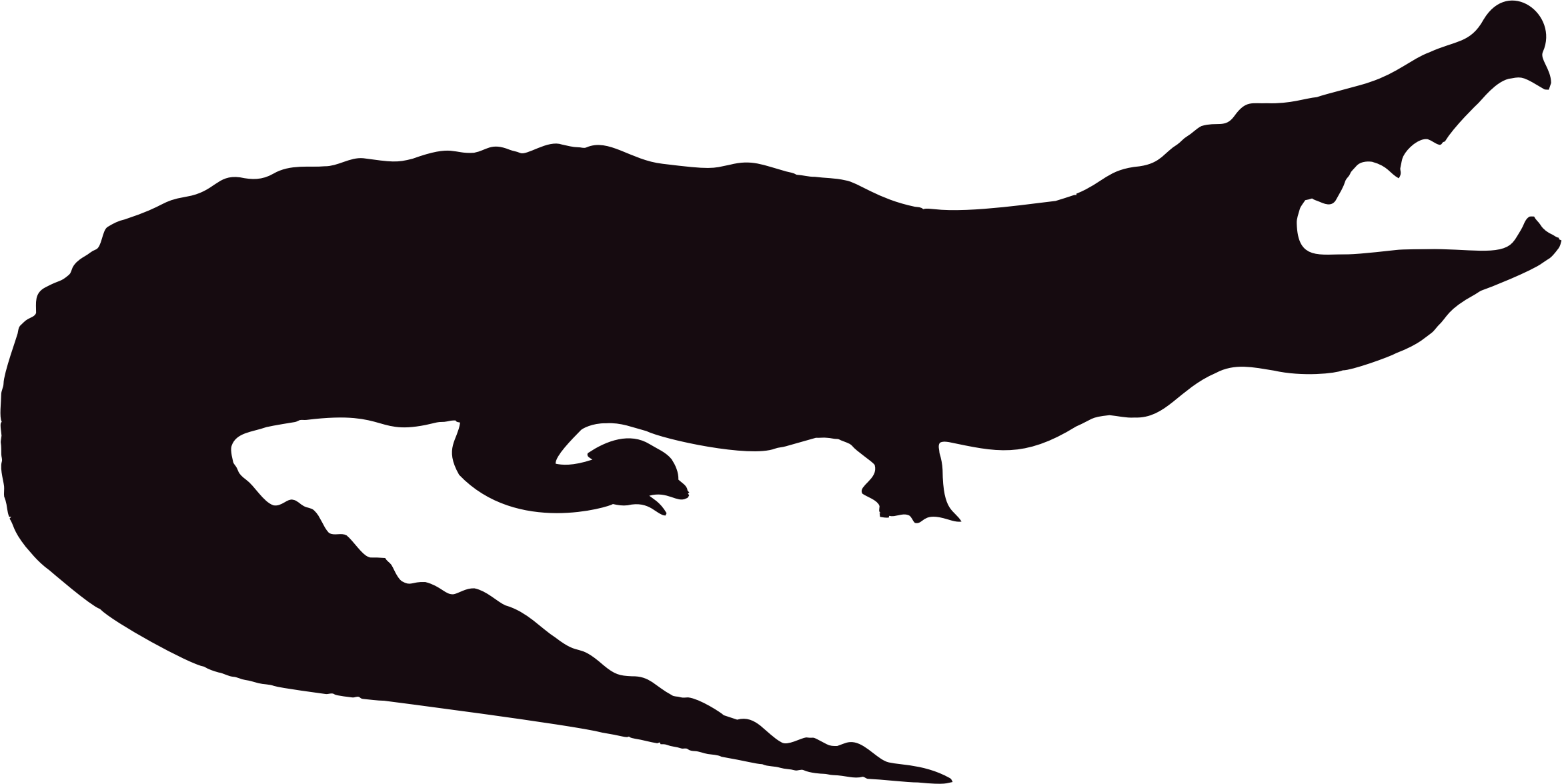 Vector alligator silhouette. Icons png free and clip art royalty free