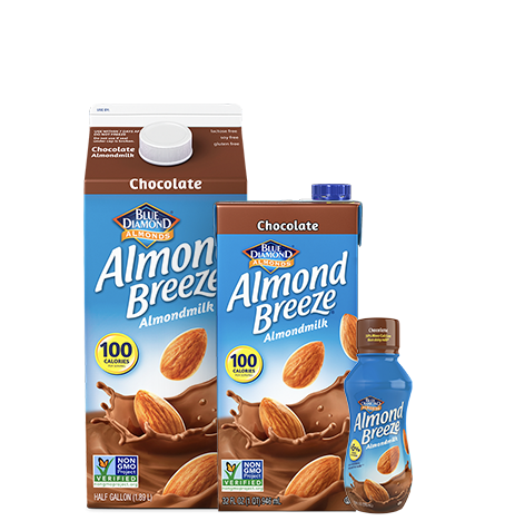 Almond milk png. Chocolate almondmilk breeze blue