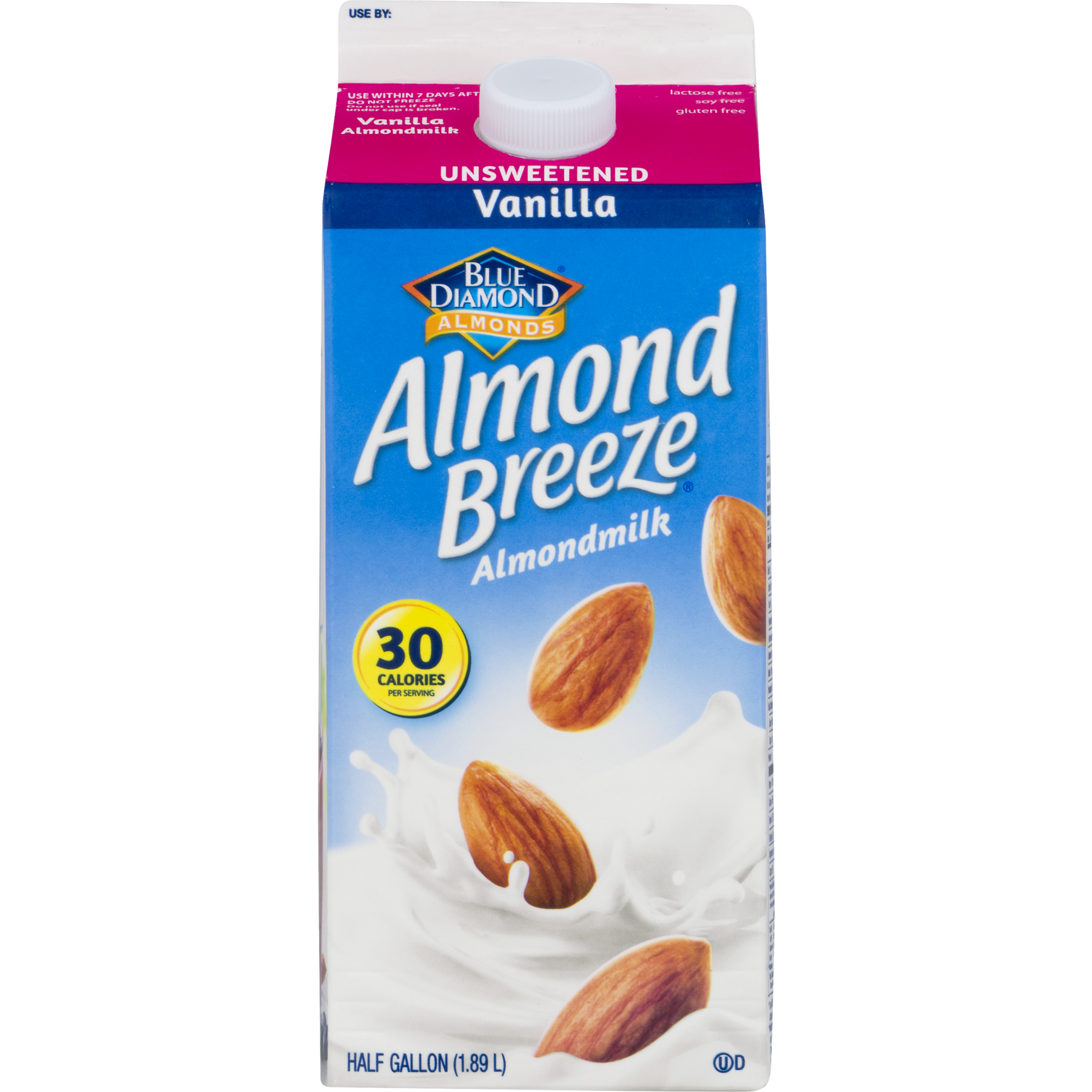 Almond milk png. Blue diamond breeze unsweetened