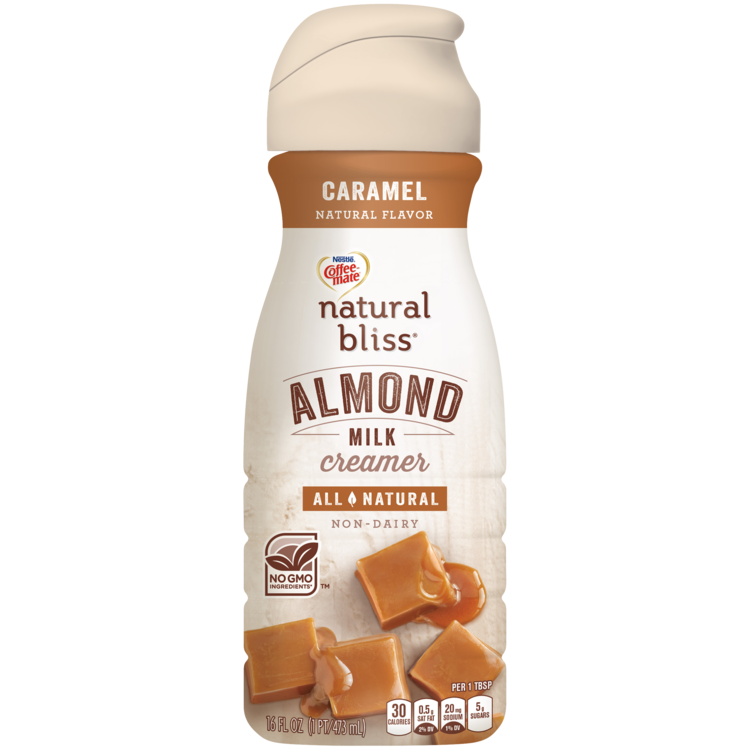 Almond milk png. Caramel coffee creamer natural