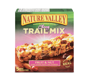 Almond vector nut. Trail mix fruit bars