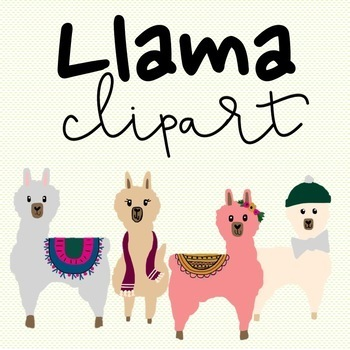 Alpaca clipart robot. Llama teaching resources teachers