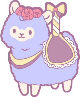 Carousel image indie db. Alpaca transparent cute clipart library stock