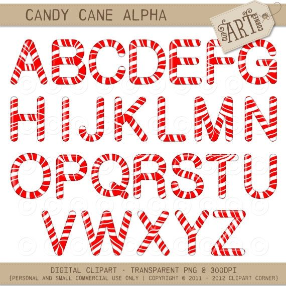 Alphabet clipart candy. Cane christmas luvly marketplace