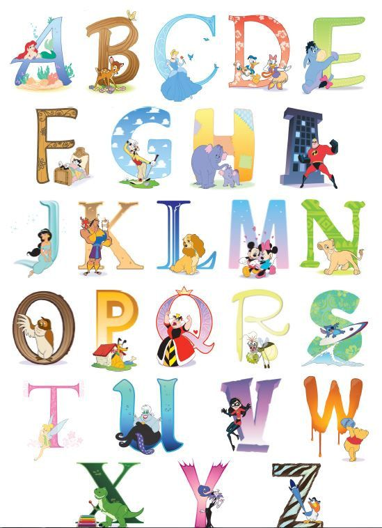 Alphabet clipart daycare. Disney chart for the