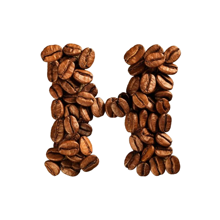 Alphabet coffee png. Bean cafe letter beans