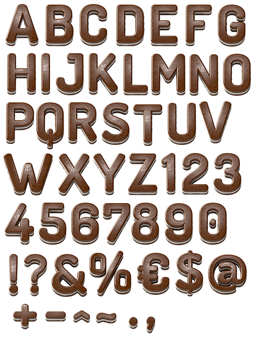 Alphabet coffee png. Alfabeto chocolate by jeehrobertta