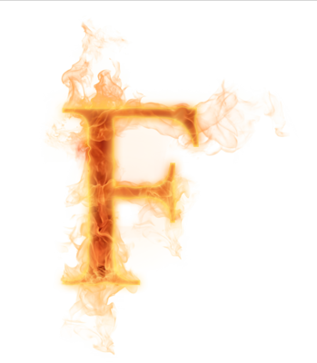fire letter f png