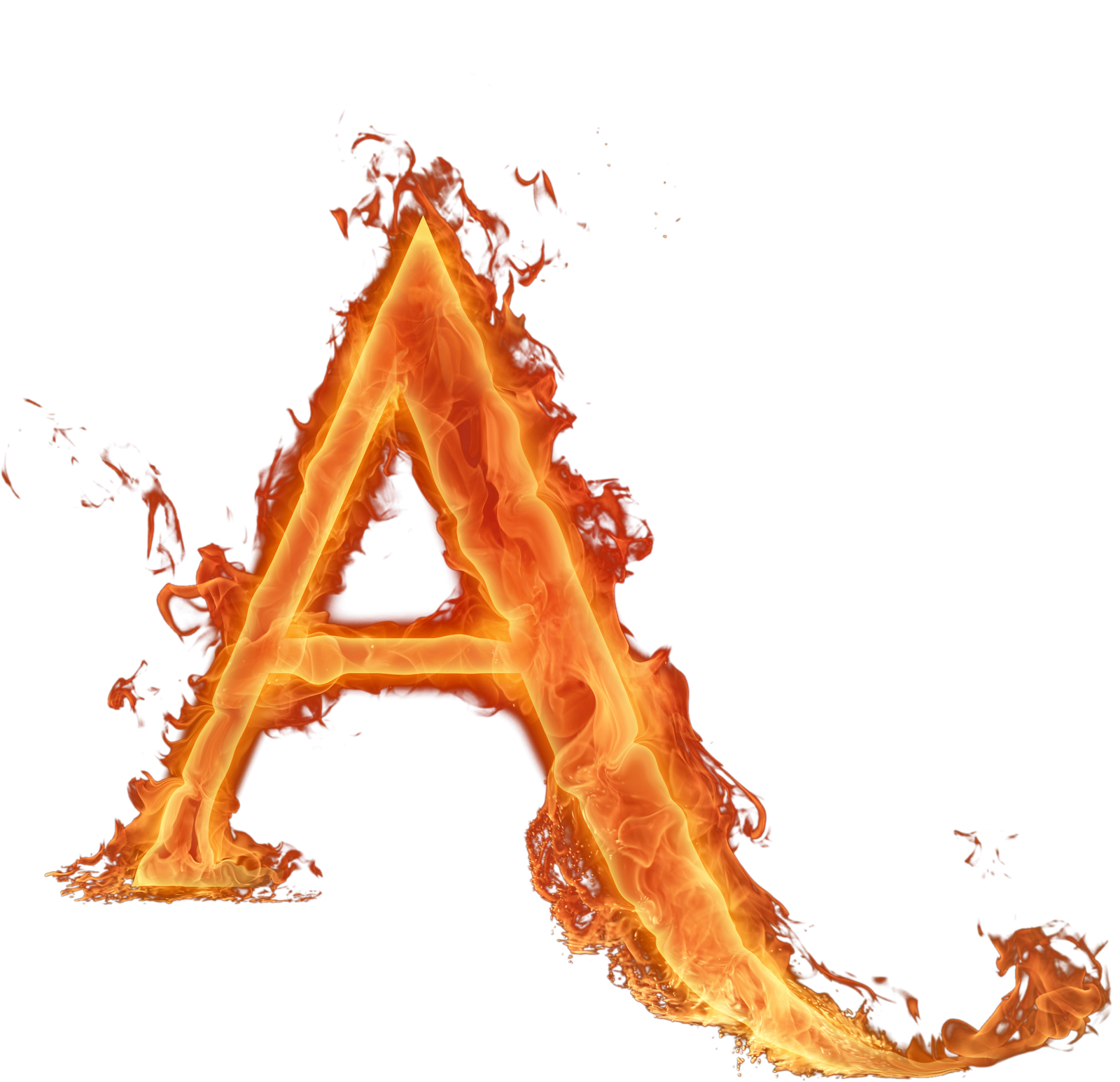 Alphabet fire png. Letras fogo chama letter