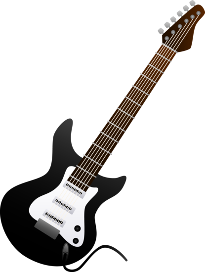 Electric guitar silhouette png. Design by jzielinski colored