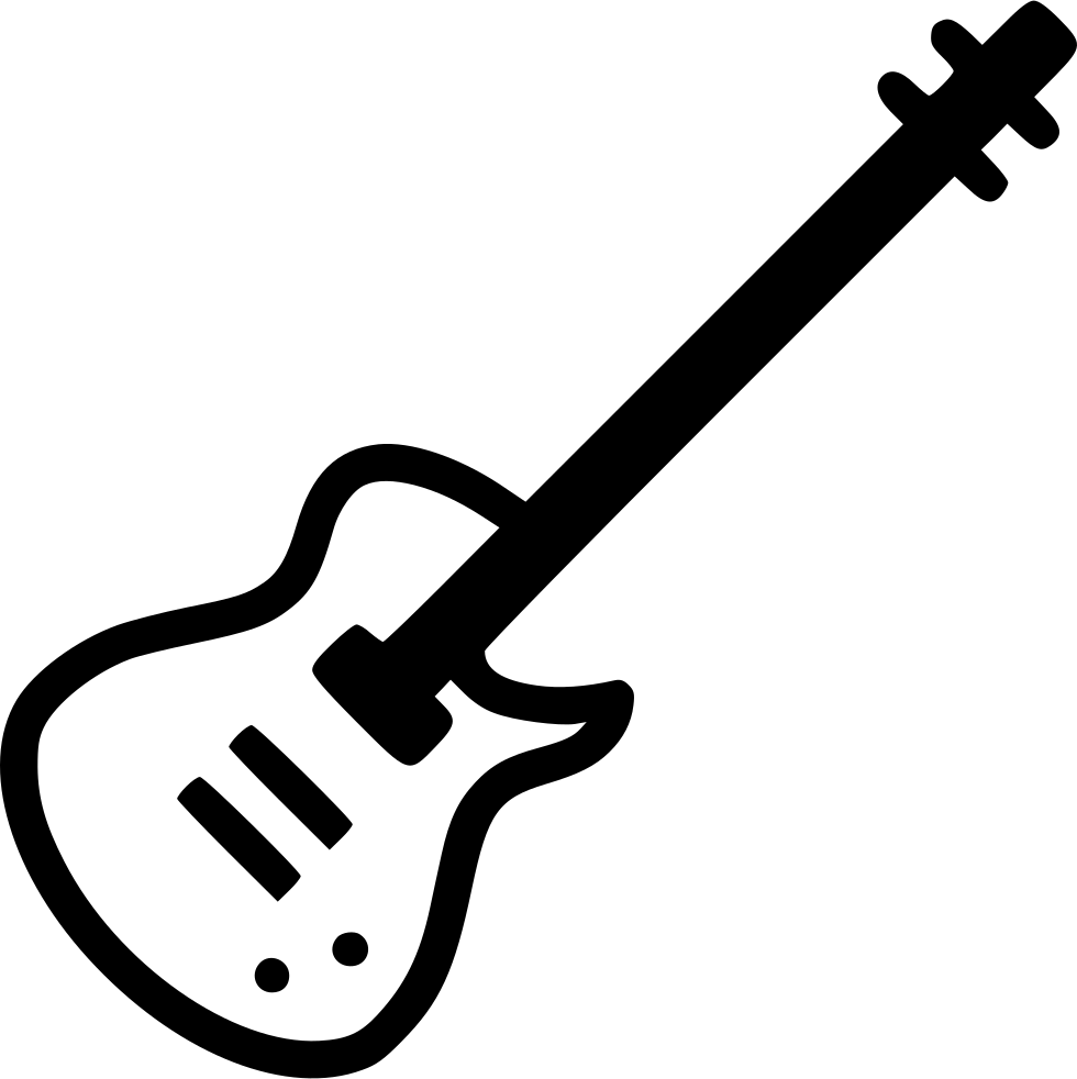 Alphabet guitar png. Electric instrument svg icon