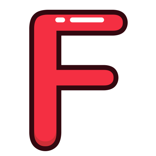 Letter f png. Letters red alphabet icon