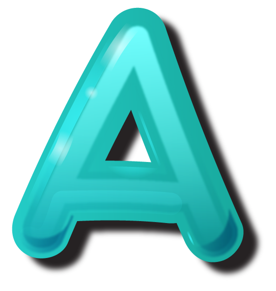 Alphabet letter png. A to z letters