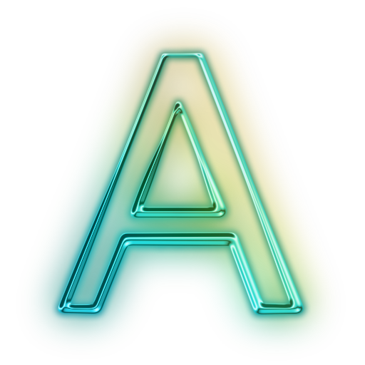 Letter a png. To z alphabet letters