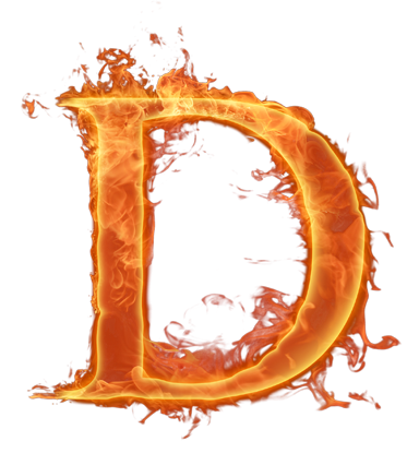Alphabet on fire png. Forgetmenot