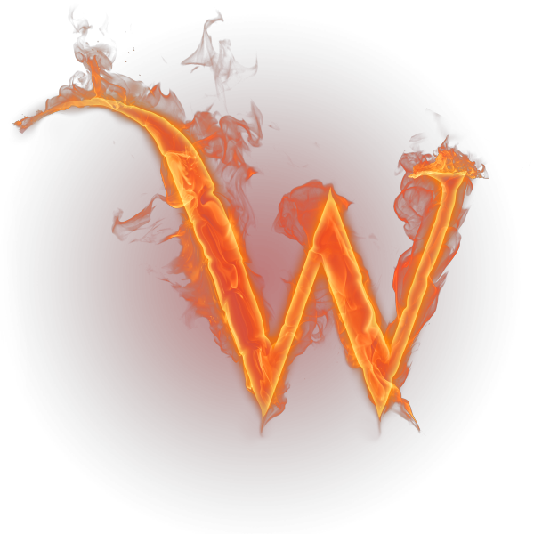 Alphabet on fire png. W download free