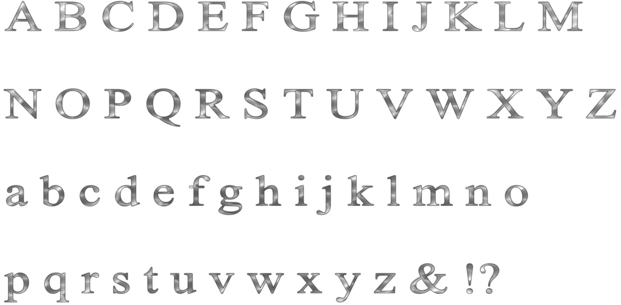 Alphabet png. Free chrome by scifilicious