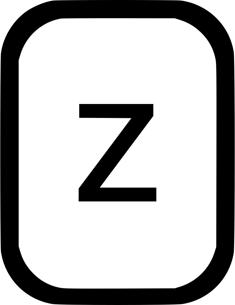 Alphabet png download. Lowcase letter z latin