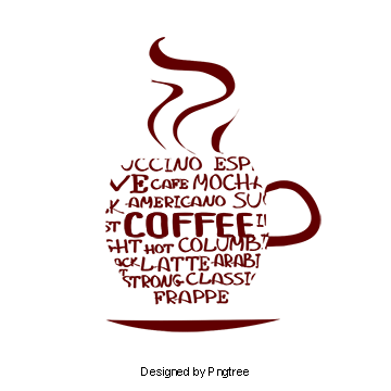 Vector steam coffee cup. Alphabet png vectors psd