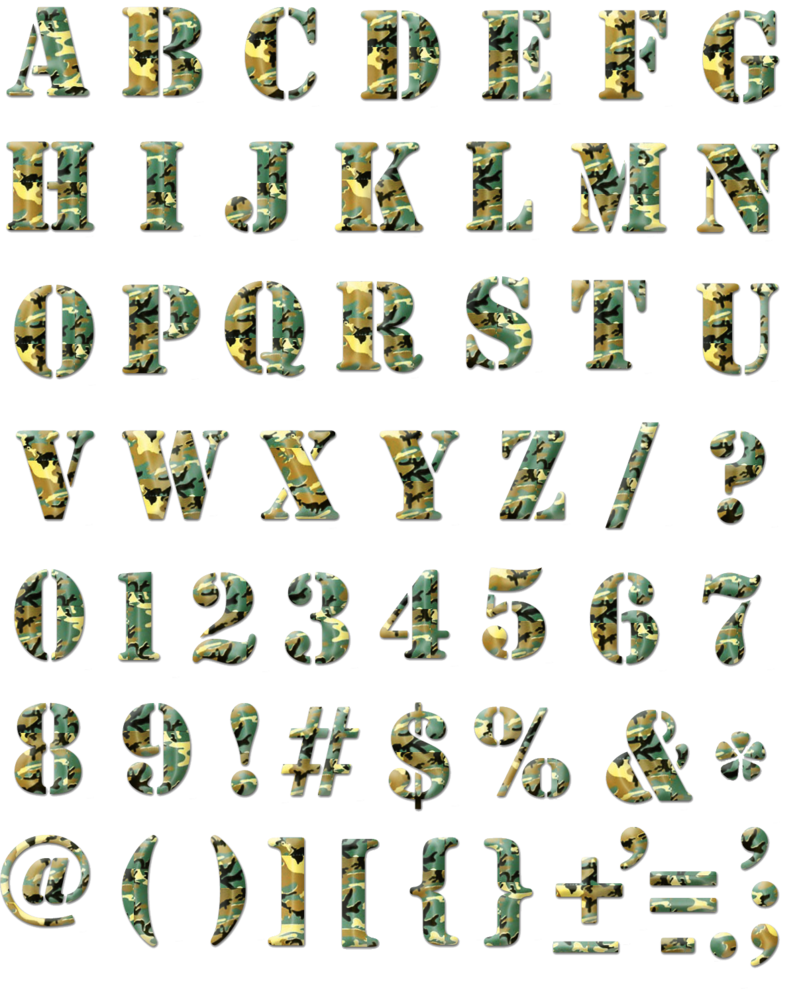 Alphabet png transparent. Camouflage by sodadnima on