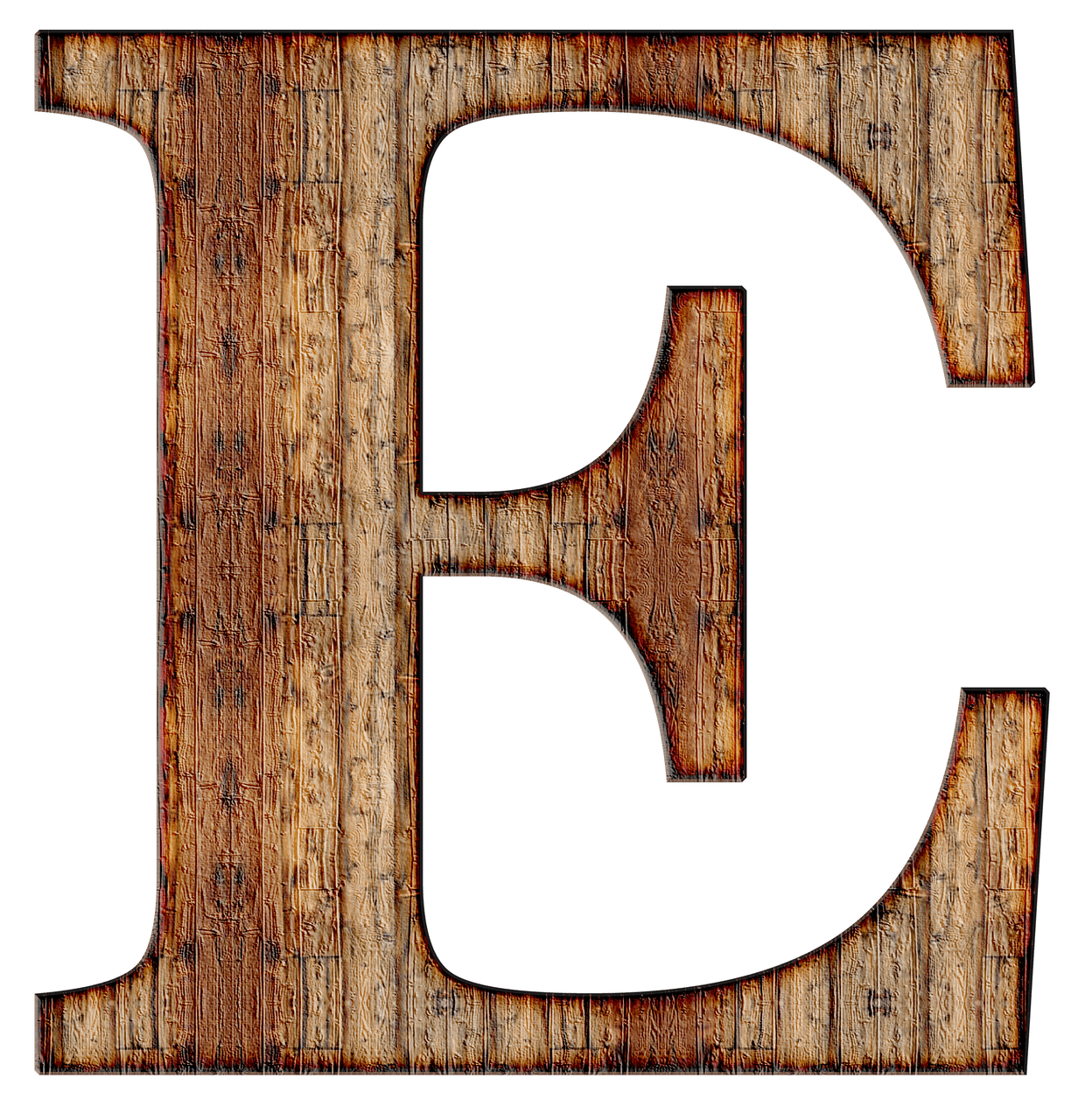 Alphabet wood png. Wooden capital letter e