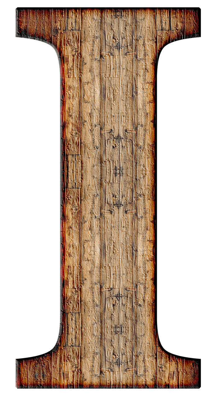 Alphabet wood png. Wooden capital letter i