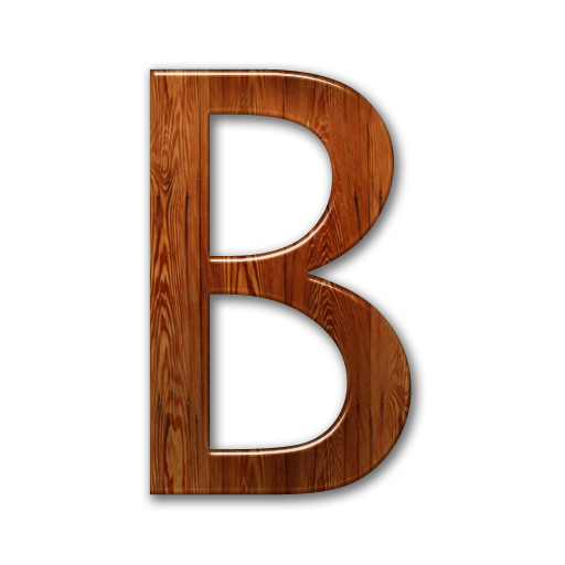 Alphabet wood png. Letter b images free