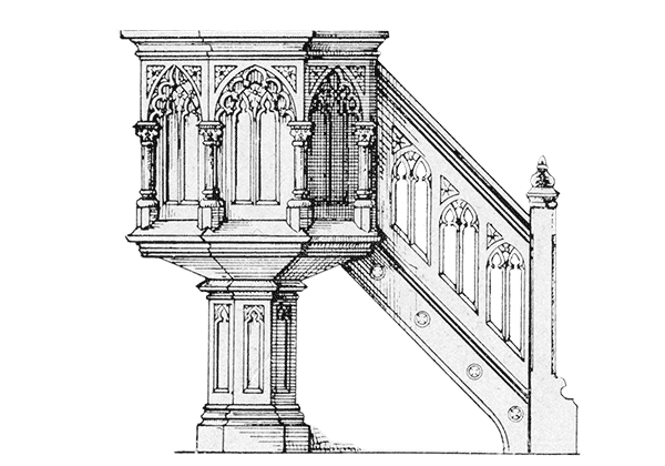 altar drawing architectural